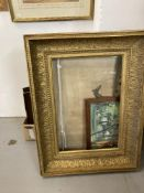 Pictures & Prints: 19th cent. moulded gilt picture frame 33ins. x 25ins. with an aperture of 24½ins.