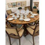 20th cent. Ceramics: Noritake Roselane dinner service, dinner plates x 8, dessert plates x 8, side