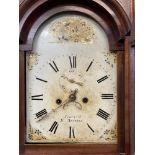 Clocks: Cornish longcase, 19th cent. Joshua Truscott of St. Austell eight day movement, with