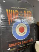 """Militaria - Rare WWI Poster: """"Royal Air Force Exhibition"""" War in the Air. 29ins. x 19½ins."""