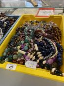 Mid 20th cent. Costume Jewellery: Necklaces, a large quantity of coloured beads, brown, green,