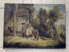 British School: 19th cent. 'Going to School' signed A. Ash. 14ins. x 10ins.