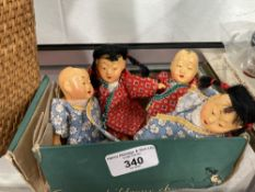Dolls: Post war composite Chinese dolls 5ins. (4).