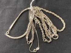 White Metal Jewellery: Eleven bracelets all test as silver, all stamped 925. Total weight 38·4g.
