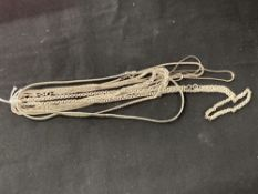 White Metal Jewellery: Six necklets all test as silver, all stamped 925. Total weight 70·2g.