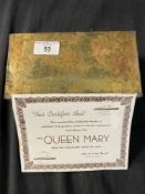 R.M.S. QUEEN MARY: Unopened lifeboat/raft rations tin believed unused from Queen Mary with