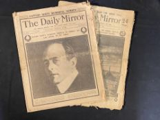 POLAR EXPLORATION: Original copies of the Daily Mirror dated February 12th 1913 and 21st May 1913