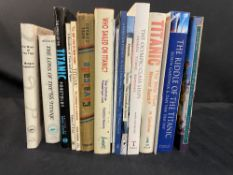 R.M.S. TITANIC - BOOKS: Mixed box of vols. to include The Rhythm of the Titanic & Olympic Class
