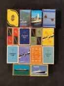 OCEAN LINER: Mixed lot of Cunard playing cards 1930s onwards, many unused in original wrapping.
