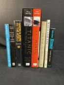R.M.S. TITANIC - BOOKS: Mixed lot of hardbound & other vols. Titanic The Ship Magnificent vol. 1 &