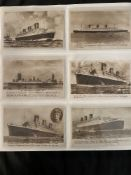 POSTCARDS: Superb collection of over 250 postcards of R.M.S. Queen Mary documenting from her