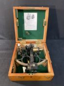 SCIENTIFIC INSTRUMENTS: 20th cent. Hughes & Son sextant, boxed.