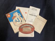 OCEAN LINER: Mixed folder of ephemera to include Cunard & White Star Line. Approx. 29 pieces.