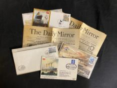 R.M.S. TITANIC: Souvenirs, autographs and related covers to include Bertram and Millvina Dean.