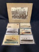 OCEAN LINER: Collection of postcards, first day covers including Queen Mary, Britannic, Queen