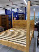 Art & Design: Ben Barnett bespoke Pippy oak four poster super king size bed.