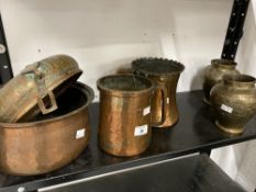 19th cent. and later Islamic related and other copper and brassware. (6)