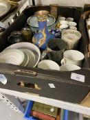 20th cent. Ceramics & 19th cent. Pewter: Royal Doulton Berkshire part tea service, 6 tea cups and