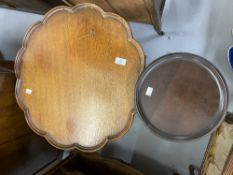 19th cent. Mahogany scallop edged tripod side table. 25½ins. x 22ins.