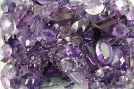 Lot loose amethysts total approx. 439 ct , different shapes, colours, sizes and cuts