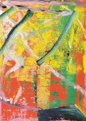 "Gerhard Richter, born 1932, Farboffsetlitho, signed, nur wenige handsigned copies ""Donaueschinger"