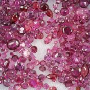 Lot loose bevelled rubies total 20.12 ct , in different shapes Valuation Price: 2300, - EUR