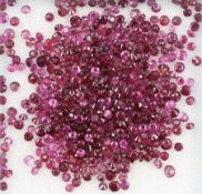 Lot loose bevelled rubies, total 21.09 ct, round Valuation Price: 3600, - EUR