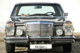 Mercedes-Benz 280 Coupé, Chassis Number: 11407312002203, first registered 07/1973, former US