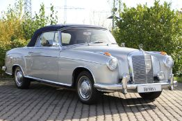 Mercedes-Benz 220 S Ponton Cabriolet, Chassis Number: 180030N7516033, first registered 11/1961,