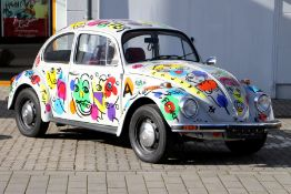 Artwork VW Käfer 1200 Peter Robert Keil, Chassis Number: 1172030974, first registered 09/1976, 4.
