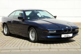 BMW 850i E31, Chassis Number: WBAEG11080CB14543, first registered 11/1992, german car with one