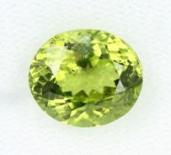 Loose peridot , approx. 3.69 ct, oval bevelled Valuation Price: 380, - EUR