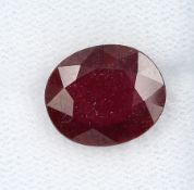 Loose ruby , approx. 6.42 ct, oval bevelled,treated Valuation Price: 1800, - EUR
