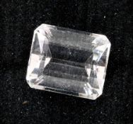 Loose morganite , approx. 7.27 ct, in emerald cut Valuation Price: 340, - EUR