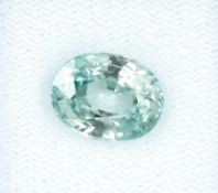 Loose zircon , approx. 5.15 ct, blue, oval bevelled Valuation Price: 480, - EUR