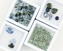 Lot loose sapphires , total approx. 30 ct, in different colours, sizes and cuts, oval Valuation