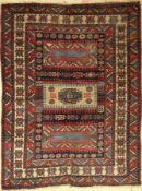 Dorfteppich, Türkei, um 1950, Wolle auf Wolle, ca. 221 x 168 cm, EHZ: 4