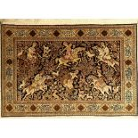 Seiden Ghom alt, Persien, ca. 50 Jahre, reine Naturseide, ca. 164 x 115 cm, EHZ: 2
