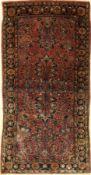 Sarogh antik (US Re-Import), Persien, um 1900, Korkwolle, ca. 150 x 78 cm, EHZ: 2-3