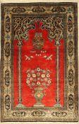 Ghom Seide, Persien, ca. 50 Jahre, reine Naturseide, ca. 162 x 107 cm, EHZ: 2