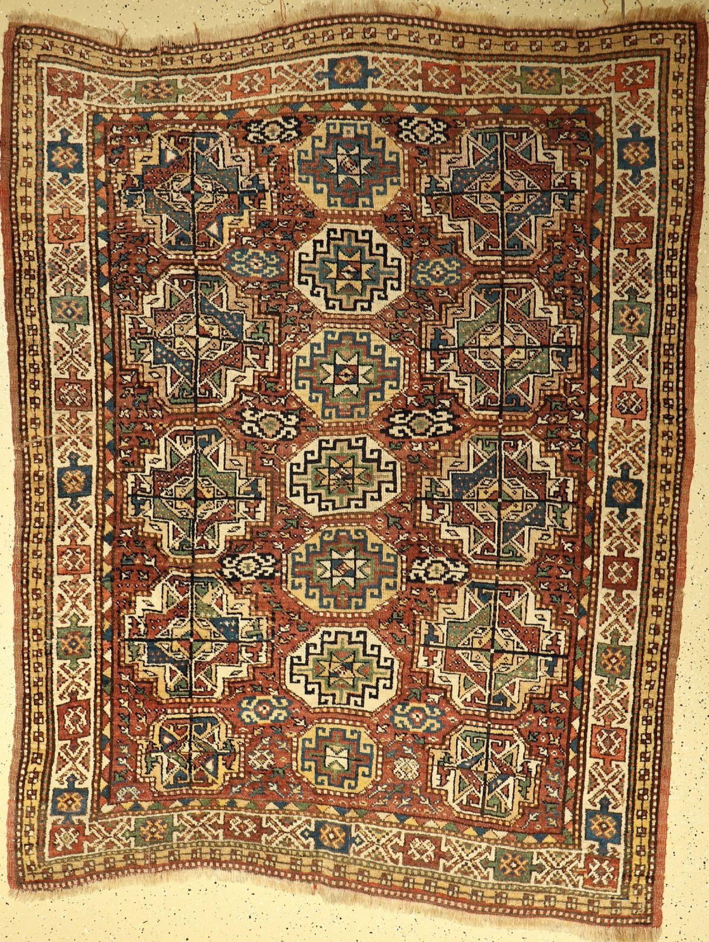 Khorassan Kordi alt, Persien, um 1920, Wolle auf Wolle, ca. 212 x 168 cm, Memling Güls, EHZ: 3