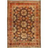 Täbriz fein (Part-Silk), China, ca. 40 Jahre, Korkwolle mit und auf Seide, ca. 312 x 222 cm, EHZ:
