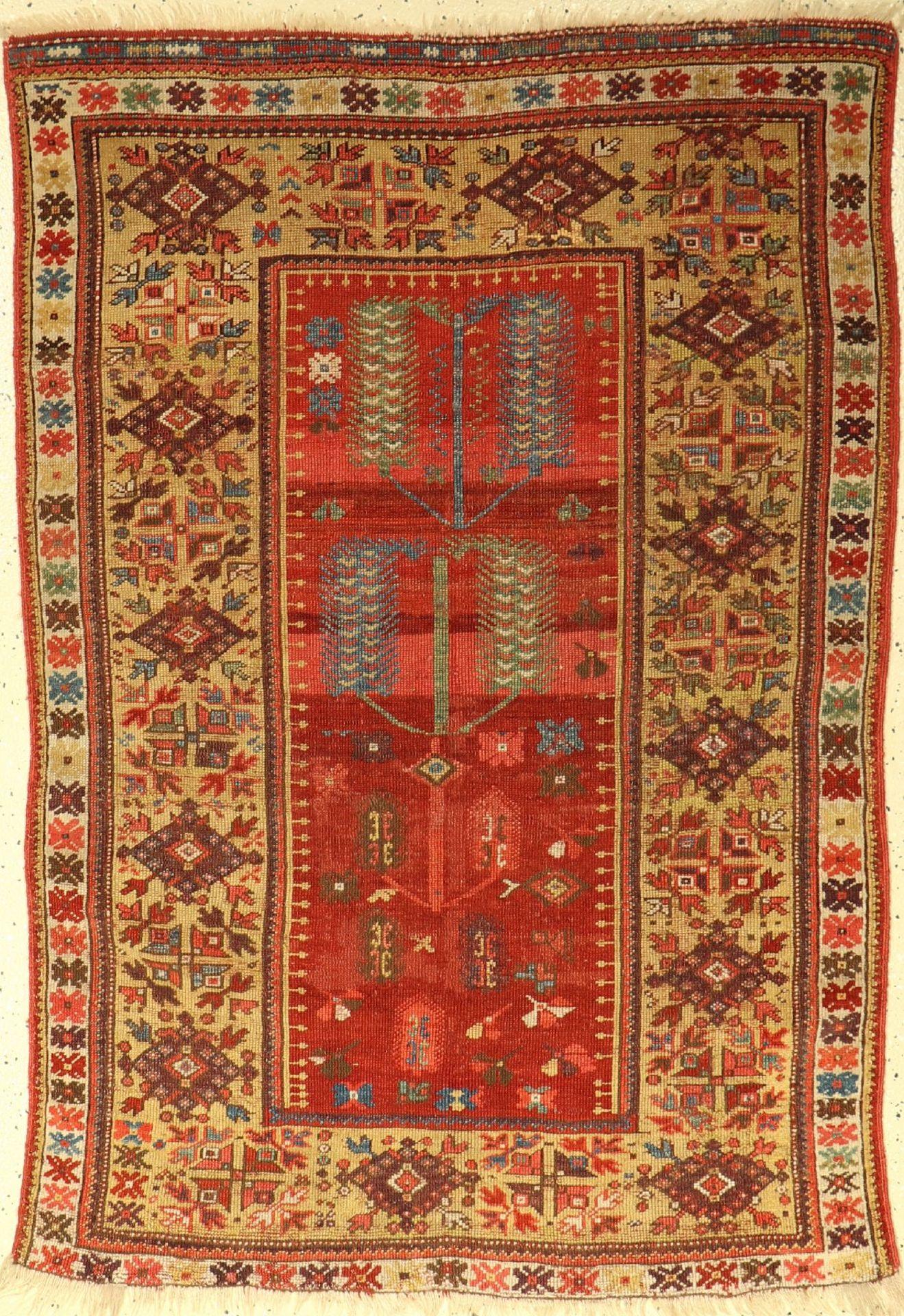 Melas antik, Türkei, Mitte 19.Jhd., Wolle auf Wolle, ca. 152 x 107 cm, EHZ: 4