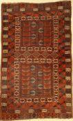 """Ersari """"Engsi"""" antik, Turkmenistan, um 1900, Wolle auf Wolle, ca. 200 x 127 cm, EHZ: 3 ("""