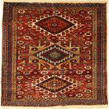 Feiner Kordi alt, Persien, um 1940, Wolle auf Wolle, ca. 122 x 123 cm, EHZ: 2