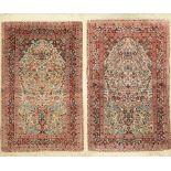 1 Paar Seiden Hereke fein, China, ca. 40 Jahre, reine Naturseide, ca. 124 x 78 cm, EHZ:2