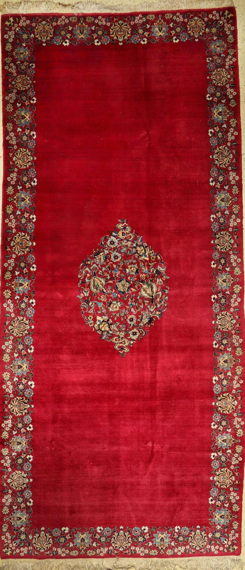 Ostpersischer Teppich alt, Persien, um 1950, Wolle auf Baumwolle, ca. 410 x 184 cm, EHZ: 2