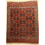 Yomud Kepse Gül, Turkmeistan, um 1920, Wolle auf Wolle, ca. 142 x 108 cm, EHZ: 3