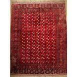 Großer Seiden Torkman alt, Persien, um 1950, reine Naturseide, ca. 430 x 321 cm, dekorativ, selten