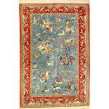 Ghom Kork, Persien, ca. 50 Jahre, Korkwollemit Seide, ca. 212 x 142 cm, EHZ: 2